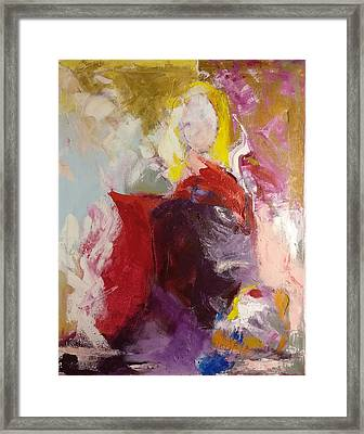 Framed Print featuring the painting Flash by Nicolas Bouteneff