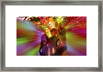 Flash Of Light Framed Print