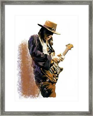 Flash Point Stevie Ray Vaughan Framed Print
