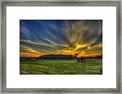 Flash The Iron Horse Sunset Framed Print by Reid Callaway