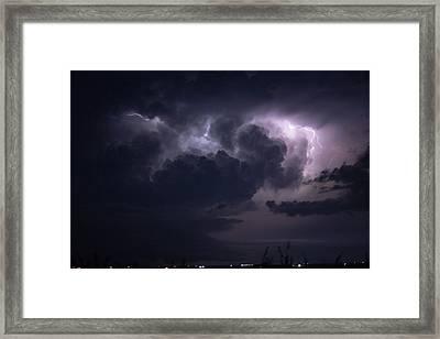 Flashes Of Lightening Framed Print