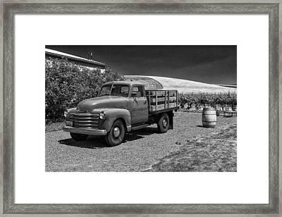 Flat Bed Chevrolet Truck Dsc05135 Framed Print