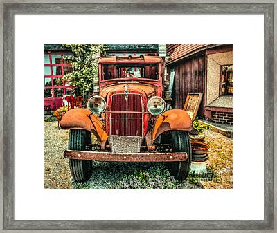 Framed Print featuring the photograph Flat Bed Ford by Nick Zelinsky