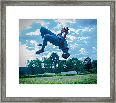 Flat Ground Gainer Framed Print