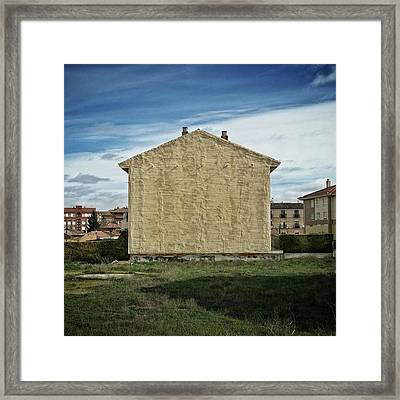 Flat House #architecture #building Framed Print
