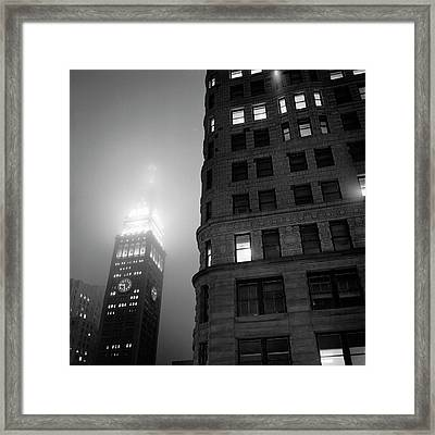 Framed Print featuring the photograph Flat Iron And Metropolitan Life Tower by Dave Beckerman