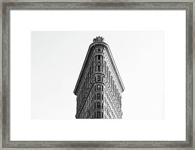 Flat Iron Building Framed Print by MGL Meiklejohn Graphics Licensing