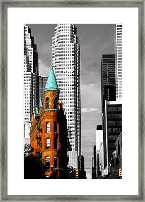 Flat Iron Building Toronto Framed Print by John  Bartosik
