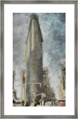 Framed Print featuring the digital art Flat Iron by Jim  Hatch