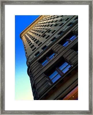 Flat Iron Sunset Framed Print by Keith Rousseau