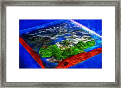Flat Planet Framed Print by Leonardo Digenio