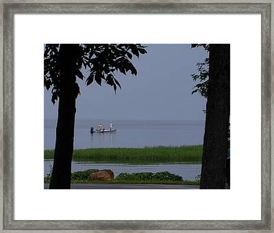 Flat Water Fishing Framed Print