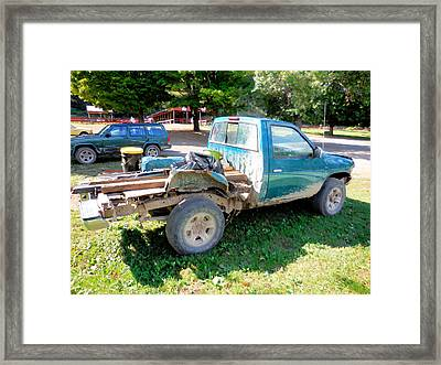 Flatbed Truck Framed Print by Lanjee Chee