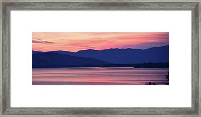 Flathead Lake At Sunrise Framed Print