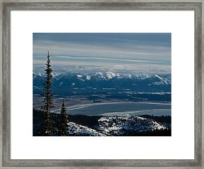 Flathead Valley In The Winter Framed Print