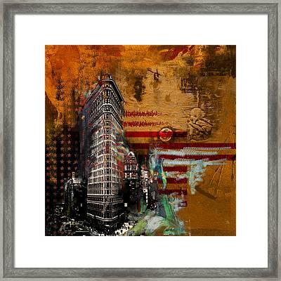 Flatiron Building 207 2 Framed Print by Mawra Tahreem