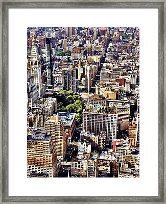 Flatiron Building From Above - New York City Framed Print