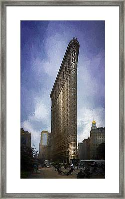 Flatiron Building Framed Print by Marvin Spates