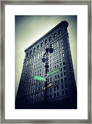 Framed Print featuring the photograph Flatiron Directions by Jessica Jenney
