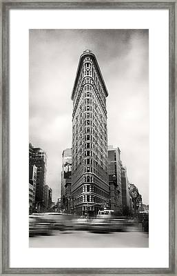 Flatiron District Rush Hour Framed Print
