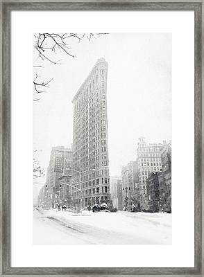 Flatiron In Winter Framed Print by Jessica Jenney