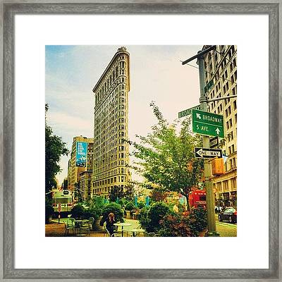 Flatiron Framed Print by Luke Kingma