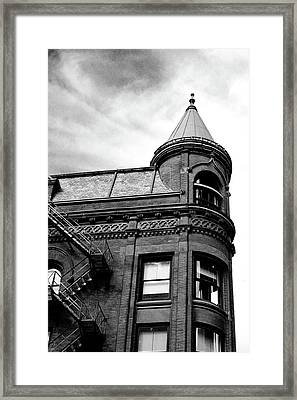 Framed Print featuring the digital art Flatiron by Margaret Hormann Bfa