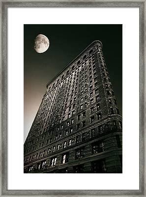 Flatiron Moonlight Framed Print
