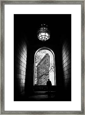 Framed Print featuring the photograph Flatiron Perspective by Jessica Jenney