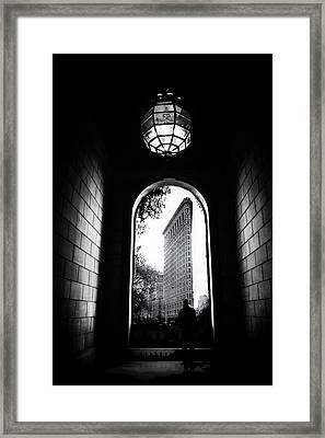 Framed Print featuring the photograph Flatiron Point Of View by Jessica Jenney