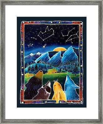 Flatirons Stargazing Framed Print