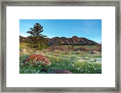 Flatirons Sunrise Framed Print