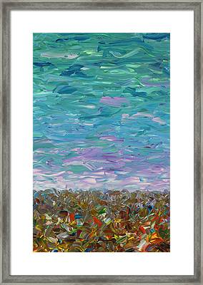 Flatland - Cloudy Day Framed Print by James W Johnson