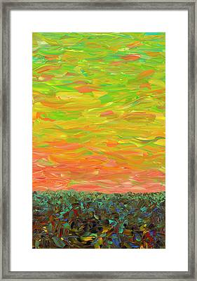 Flatland - Sunset Looking West Framed Print by James W Johnson