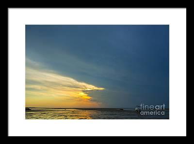 Storm Clouds Cape Cod Framed Prints