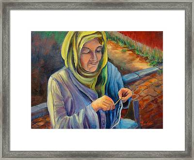 Framed Print featuring the painting Flattered by AnnE Dentler