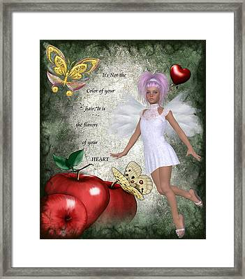 Flavors Of Your Heart Framed Print by Morning Dew