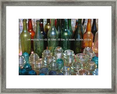 Flea Market Quote Framed Print by JAMART Photography