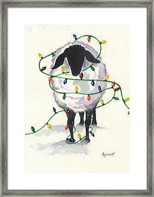 Fleece Navidad Framed Print by Marsha Elliott