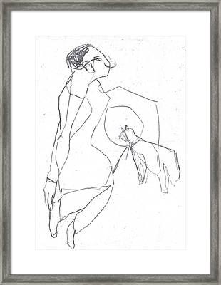 Fleeing Woman Framed Print