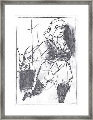 Fleeing Writer Framed Print