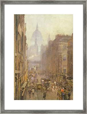 Fleet Street Framed Print by Rose Maynard Barton