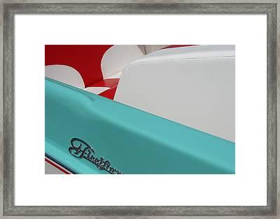 Fleetform Powerboat Ll Framed Print