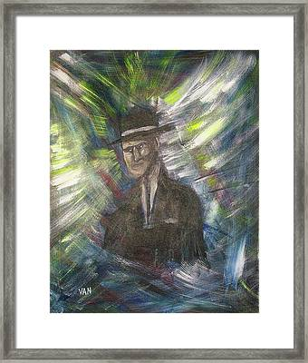 Fleeting Image Of A Young Man Framed Print by Van Winslow