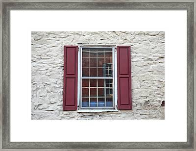 Framed Print featuring the photograph Flemington, Nj - Side Shop Window by Frank Romeo