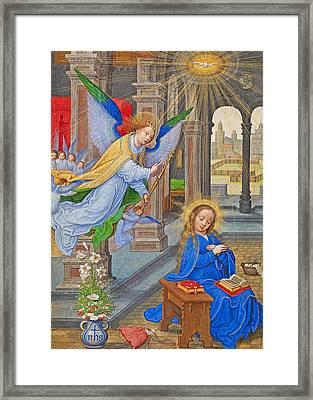 Flemish Annunciation Framed Print by Munir Alawi