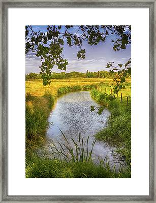 Flemish Creek Framed Print by Wim Lanclus