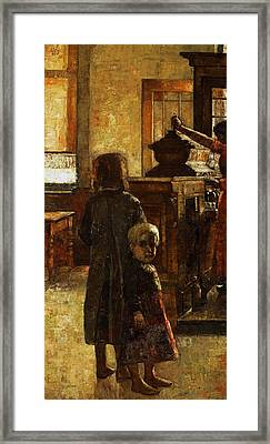 Flemish Tavern Framed Print