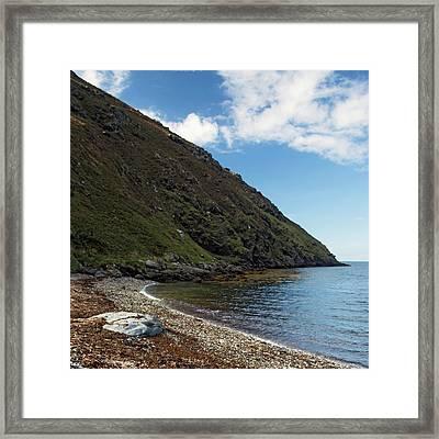 Fleshwick Bay Framed Print by Steve Watson