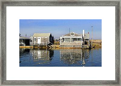 Fletchers Camp And The Little House Sandy Neck Framed Print